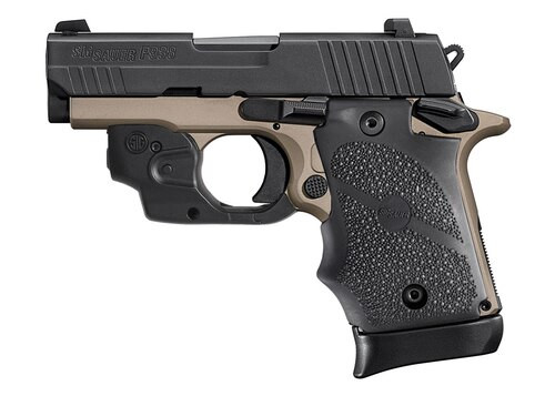 "Sig P938 Emperor Scorpion 9mm, 3.5"" Barrel, Siglite Lima Laser, Desert Bronze, 7rd"