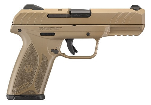 "Ruger Security-9 Pistol, 9mm, 4"" Barrel, Elite Coyote Cerakote Finish15rd Mag"