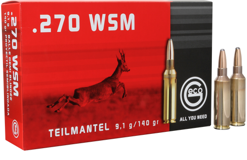 Geco 270 Winchester Short Magnum 140gr, Soft Point, 20rd Box