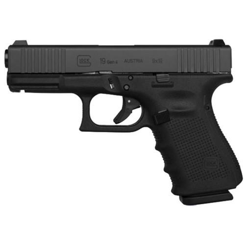 "Glock G19 Gen4 9mm, 4"" Barrel, Front Slide Serrations, 15rd Mag"