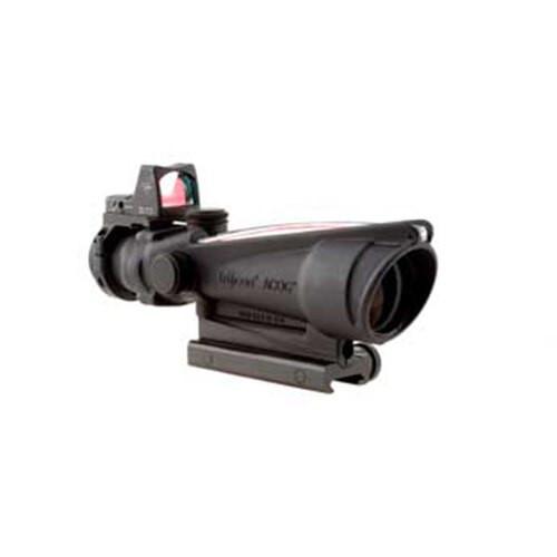 Trijicon 3.5X35 ACOG, Dual Illuminated Red Crosshair .223 Reticle Coltknob Thumbscrew Mount & LED 3.25 MOA Red Dot RMR Type 2