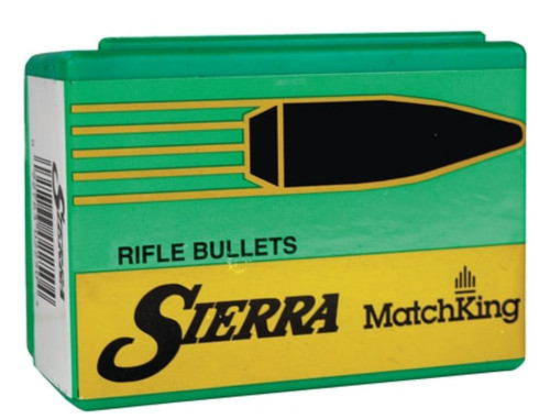 Sierra Reloading Bullets Match King .264 Diameter 142gr, Hollow Point Boattail, 500/Box