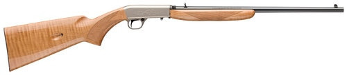 "Browning SA-22 .22 LR, 19.30"" Barrel, Satin Nickel, AAA Maple Stock, 10rd"