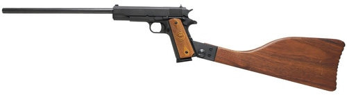"Iver Johnson 1911 A1 Carbine 45 ACP, 16"" Barrel, Walnut Stock Black Oxide, 8rd"