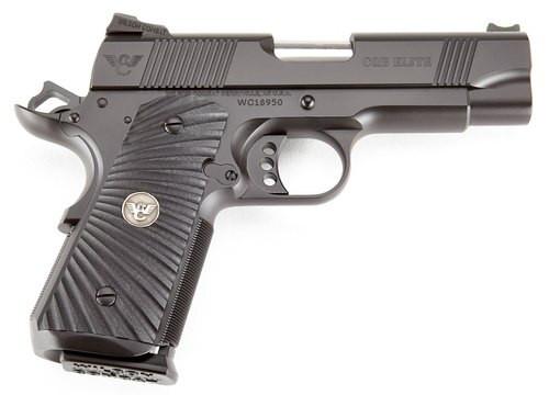 "Wilson Combat 1911 CQB Elite Compact 9mm, 5"" Barrel, G10 Starburst Grip, Black, 8rd"