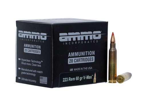 Ammo Inc Jesse James 223 Remington 60gr, V-Max, 20rd Box
