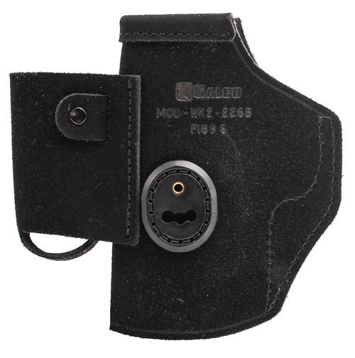 Galco Walkabout 2.0 Strongside/Crossdraw Inside Waistband Holster, Fits Glock 19, 19X, 23, 32, 45, Ambidextrous, Black Leather