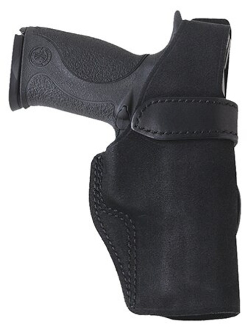 """Galco Wraith 2 Belt/Paddle Holster, Fits S&W M&P 2.0 Compact 9/40 4"""", M&P 9/40, M&P M2.0 9/40 4.25"""", Right hand, Black Leather"""