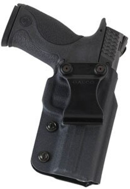 Galco Triton 2.0 Kydex Strongside/Crossdraw Inside Waistband Holster, Fits S&W M&P SHIELD 9/40 & 2.0 9/40, Right Hand, Black Kydex