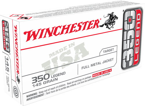 Winchester 350 Legend 145gr, Full Metal Jacket, 120rd Box