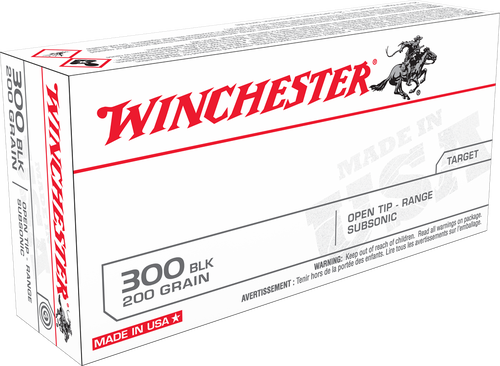 Winchester 300 Blackout 200gr, Open Tip, 120rd Box