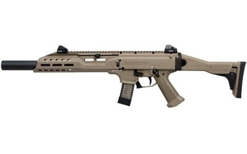 """CZ Scorpion EVO 3 S1 Carbine, 9mm, Faux Suppressor, 16"""" Barrel, Flat Dark Earth, USA Assembled, 10rd"""