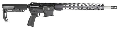 "Radical Firearms Forged MHR  223 Wylde, 18"" Barrel, Mission First Tactical Minimalist Stock, Black/Stainless Barrel, 30rd"