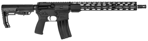 "Radical Firearms Forged Mil-Spec Rifle AR, 223 Wylde, 16"" Barrel, 1:8 Twist, HBAR Contour, Black, B5 Bravo Stock, B5 Type 23 Pistol Grip, A2 Flash Hider, 30Rd, 1 Magazine, 15"" RPR M-Lok Handguard"