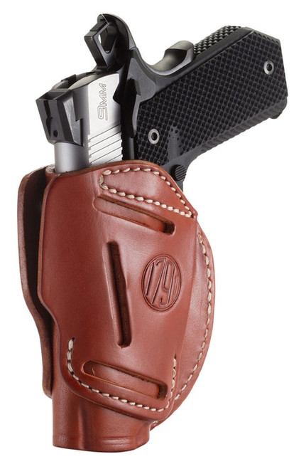 1791, 3 Way Holster, Outside Waistband Holster, Size 1, Ambidextrous, Classic Brown, Leather