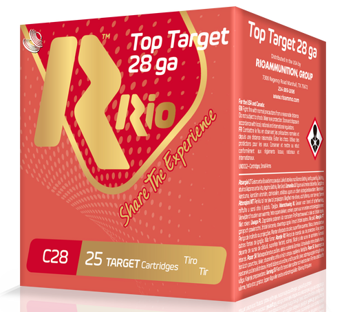 "Rio Top Target Load 28 Ga, 2.75"", 3/4oz, 8 Shot, 133 FPS, 25rd Box"