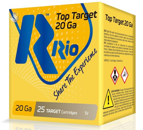 "Rio Top Target 20 Ga, 2.75"", 7/8oz, 9 Shot, 1250 FPS, 25rd Box"