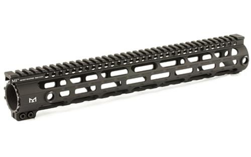 Midwest D.P.M.S. High Profile AR-10 Handguard Rail, 6061 Aluminum Black Hard Coat Anodized