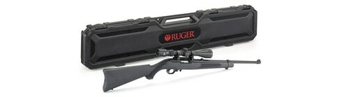 "Ruger 10/22 Carbine 22 LR, 18.5"" Barrel, Satin Black, Alloy Steel Receiver, Black Synthetic Stock, With Viridian EON 3-9x40 Scope and Ruger Case, 10Rd Rotary Magazine"