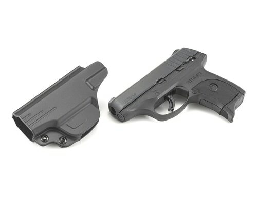 "Ruger EC9s Striker Fired, Compact, 9mm, 3.1"" Barrel, Nylon Frame, Black Oxide Finish, 7Rd, 1 Magazine, Thumb Safety, Fixed Sights Integrated into the Slide, Includes Cytac Inside Waistband Holster"