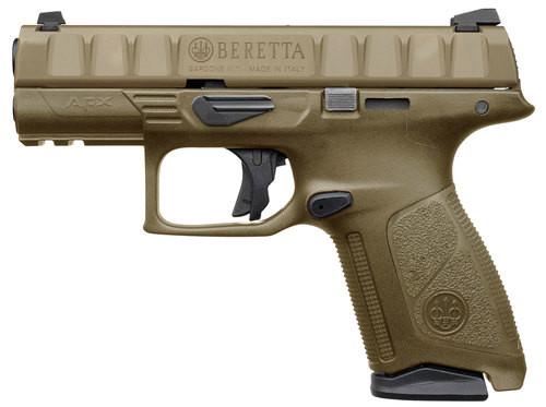 "Beretta APX Centurion 9mm, 3.70"" Barrel, Flat Dark Earth, 3 Dot White Sight, 10rd"