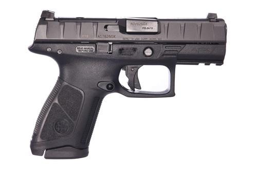 "Beretta APX Centurion RDO 9mm, 3.7"" Barrel, Black, Fixed Sights, 15rd"