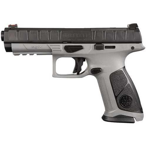 "Beretta APX Target 9mm, 4.76"" Barrel, Wolf Gray, Fiber Optic Sight, 17rd"