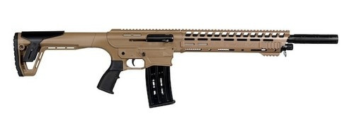 "PW Arms AR12 Semi-Auto 12 Ga, 20"" Barrel, Desert Tan, 5rd"