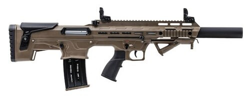 "Panzer Arms BP-12 Bullpup Semi-Auto 12 Ga, 18.5"" Barrel, Desert Tan, 5rd"