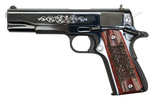 "Colt 1911 Series 70 .45 ACP Gustave Young Engravers Series, 1 of 525, 5"" Barrel, Rosewood Grips, Engraved Slide, 8rd"