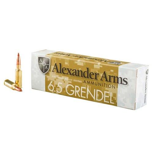 Alexander Arms 6.5 Grendel 120gr, Nosler Ballistic Tip, 20rd Box