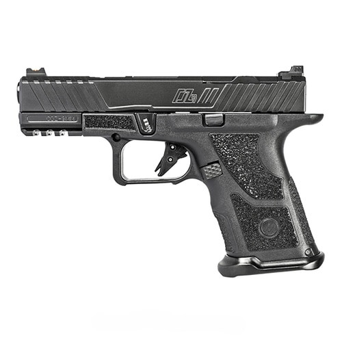 "ZEV Technologies O.Z-9 Compact 9mm, 4"" Match Grade Barrel, Steel Frame, Polymer Grip, Custom Black Slide And Barrel, 15Rd, ZEV PRO Flat Face Trigger, ZEV Magwell"