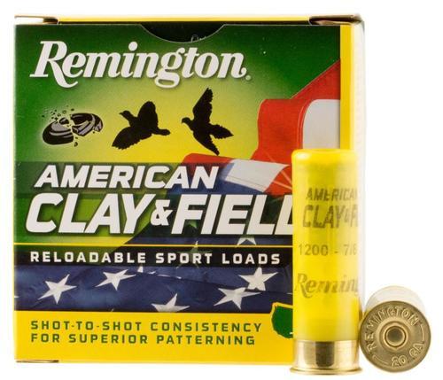 "Remington American Clay & Field Sport Loads 12 Ga, 2.75"", 1-1/8oz, 7.5 Shot, 25rd Box"