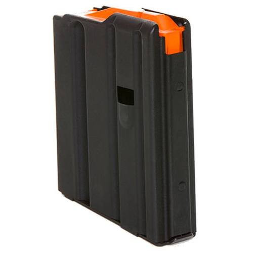 DURAMAG Magazine, 223 Rem/556NATO, 10Rd, Black, Fits AR Rifles, Stainless Steel, Orange Anti-Tilt AGF Follower