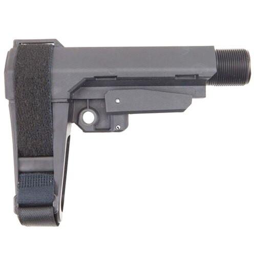 SB Tactical SBA3 Stabilizing Brace, 5 Position Adjustable, Includes 6 Position Carbine Receiver Extension, Gray Color