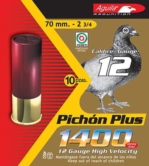 "Aguila Hunting 12 Ga, 2.75"", 1-1/4 oz, 9 Shot, 10rd/Box"