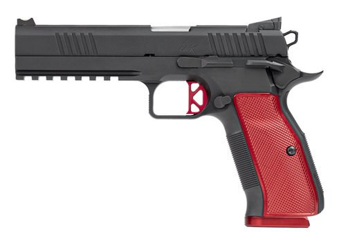 """Dan Wesson DWX Single Action Only, Full Size, 40 S&W, 5"""" Barrel, Steel Frame, Black, Aluminum Grips, 15Rd, Ambidextrous Safety, Fiber Front & Adjustable Rear Sights"""
