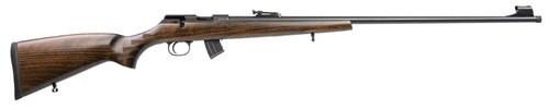 "CZ 457 Jaguar .22 LR, 28.6"" Barrel, Beechwood Stock /W Grip Stippling, 10rd"