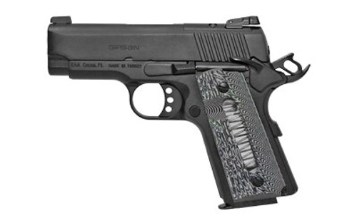"Girsan MC1911SC .45 ACP, 3.4"" Barrel, Optics Ready, G10 Grips, Black, 6rd"