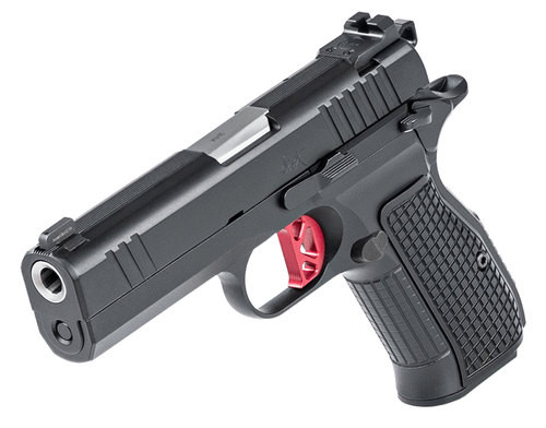 "Dan Wesson DWX Single Action Only,Compact, 9mm, 4"" Barrel, Aluminum Frame, Black, Aluminum Grips, 15Rd, Ambidextrous Safety, Front Night Sight Blacked Out Rear Sights, No Rail"