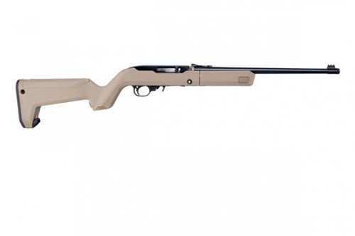 "Ruger 10/22 .22 LR, 16"" Barrel, FO Sights, Flat Dark Earth Magpul Backpacker Stock, 4x 10rd Mag"