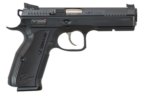 "CZ SP-01 AccuShadow 2 9mm, 4.8"" Barrel, Black Aluminum Grip, Black Nitride Slide, 17rd"