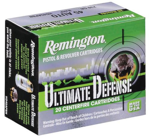 Remington Ultimate Home Defense .40 S&W 180gr, Brass Jacketed Hollow Point 20rd Box