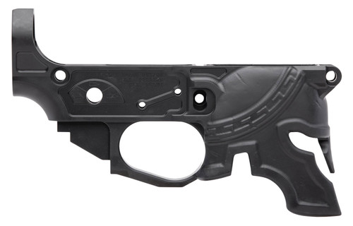 Spikes Rare Breed Spartan Stripped Lower, Multi-Cal, Black Hardcoat Anodized