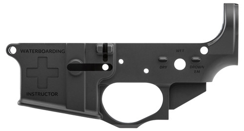 Spikes Water Boarding Instructor Stripped Lower, Multi-Cal, Black Hardcoat Anodized