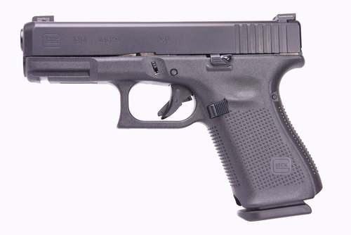 "Glock 19M 9mm, 4"" Barrel, Ameriglo Agent Night Sights, Rounded FBI Mag Catch, nDLC Hard Finish, 3x15rd Mags"
