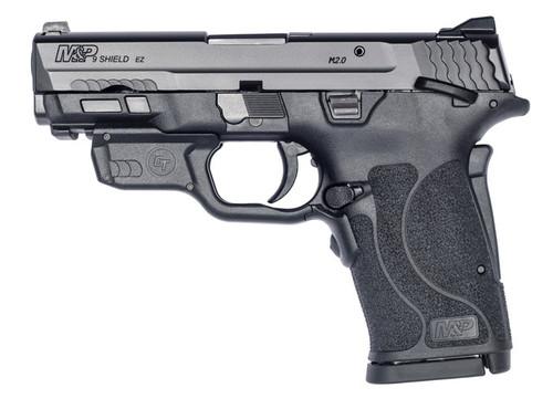 "Smith & Wesson M&P Shield EZ M2.0 Compact 9mm, 3.675"" Barrel, Crimson Trace Laser, Manual Safety, Black, 8rd"
