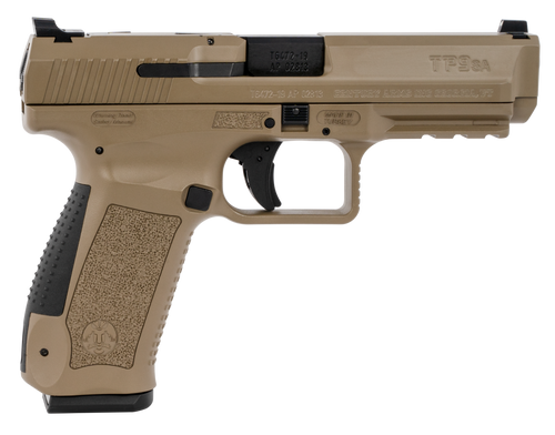 "Canik TP9SA MOD 2 9mm, 4.46"" Match Barrel, Flat Dark Earth, 2x18rd Mags"