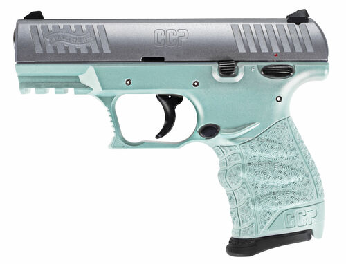 "Walther CCP M2 9mm, 3.54"" Barrel, Angel Blue, Stainless Slide, 2x 8rd"