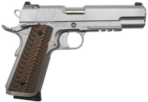 "Dan Wesson Specialist .45 ACP, 5"" Barrel, Stainless Steel, G-10 VZ II Grips, Night Sights, 8rd"